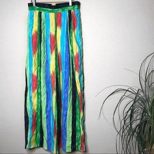 Joseph ribkoff palazzo tropical color way pants